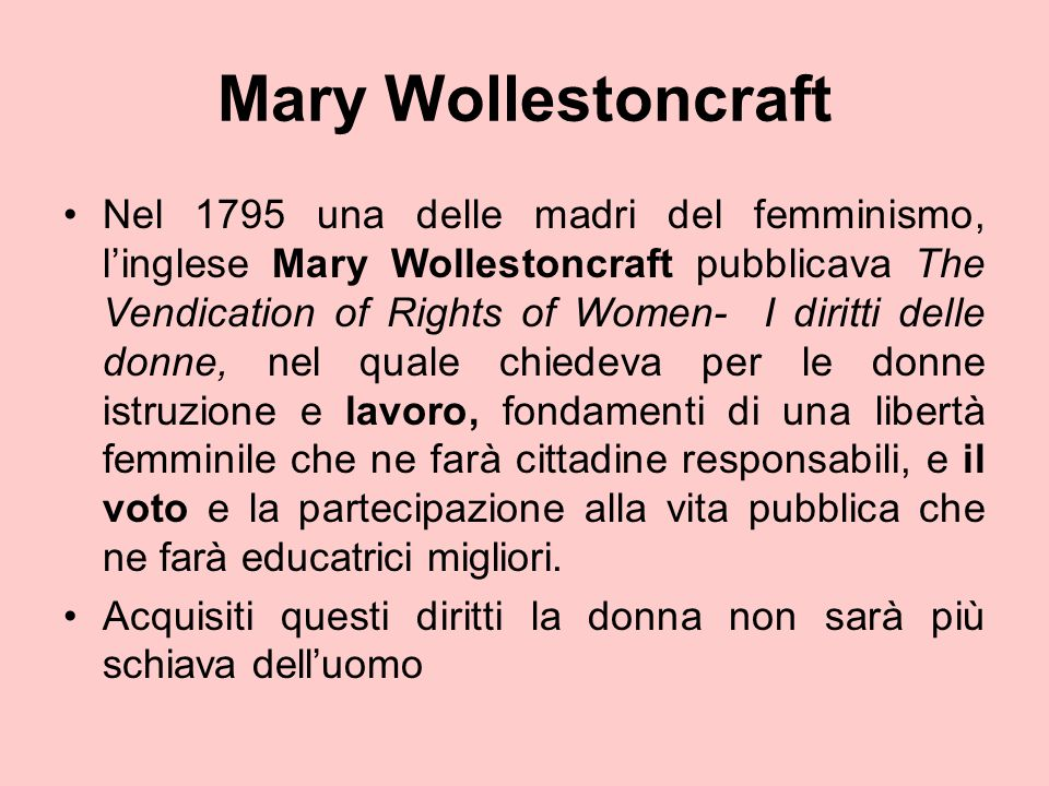 Mary Wollestoncraft