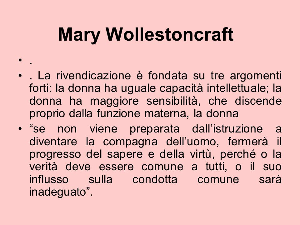 Mary Wollestoncraft .