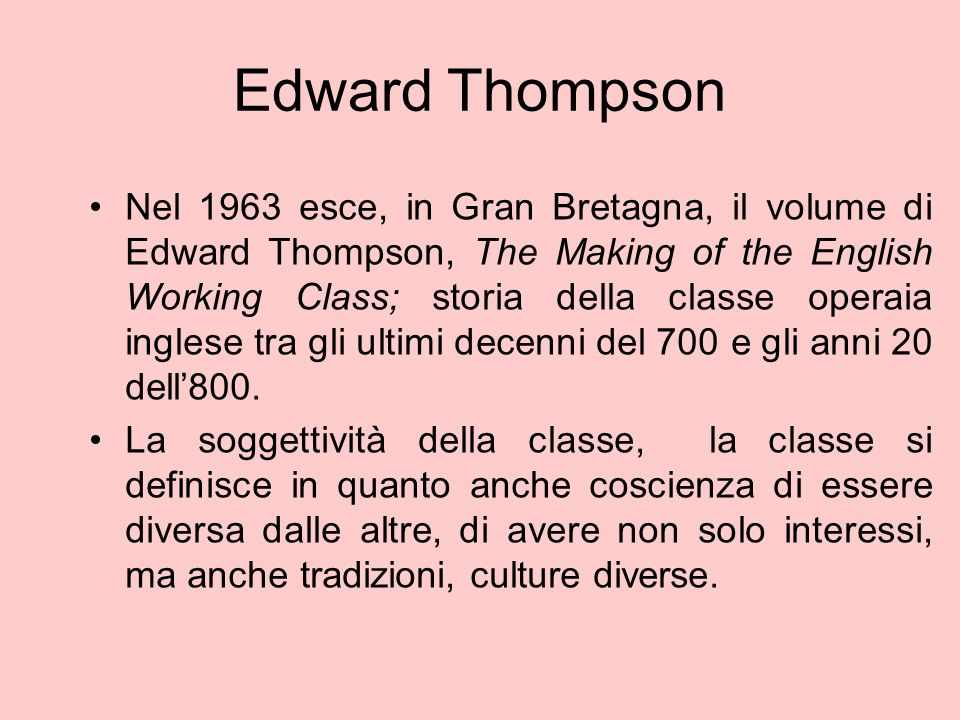 Edward Thompson