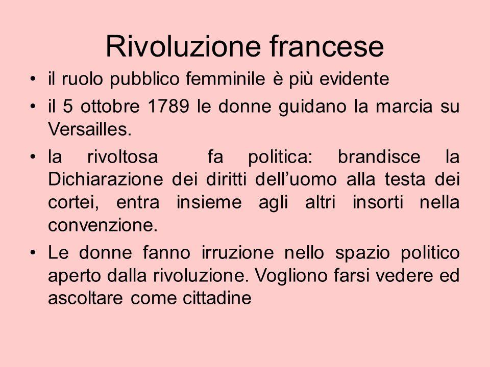 Rivoluzione francese il ruolo pubblico femminile è più evidente