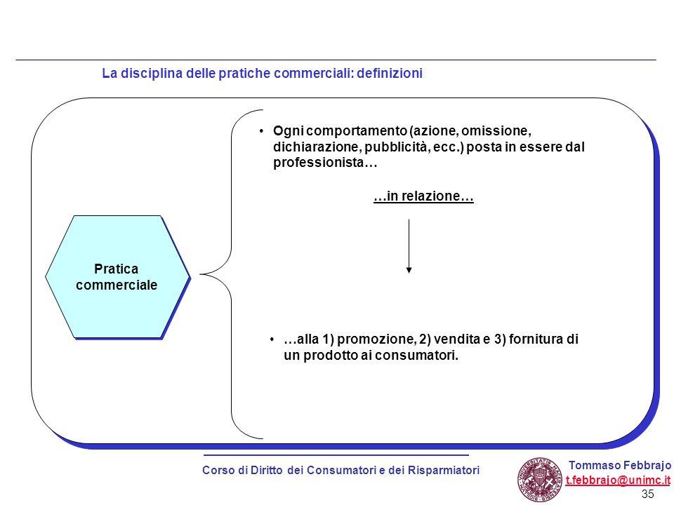 La disciplina delle pratiche commerciali: definizioni