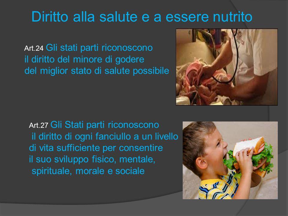 Diritto alla salute e a essere nutrito