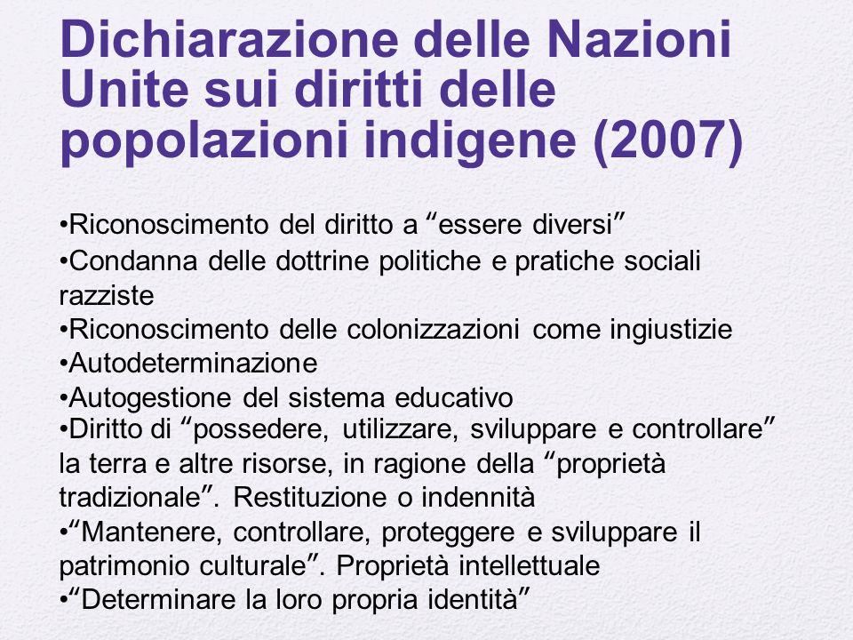 Dichiarazione delle Nazioni Unite sui diritti delle popolazioni indigene (2007)