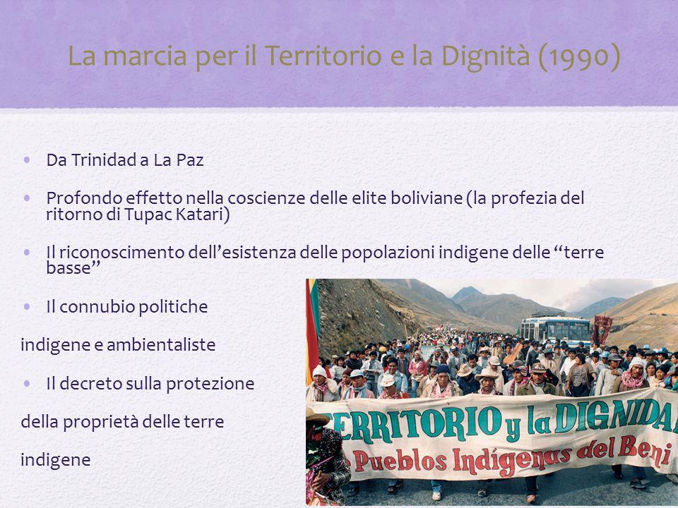 La marcia per il Territorio e la Dignità (1990)