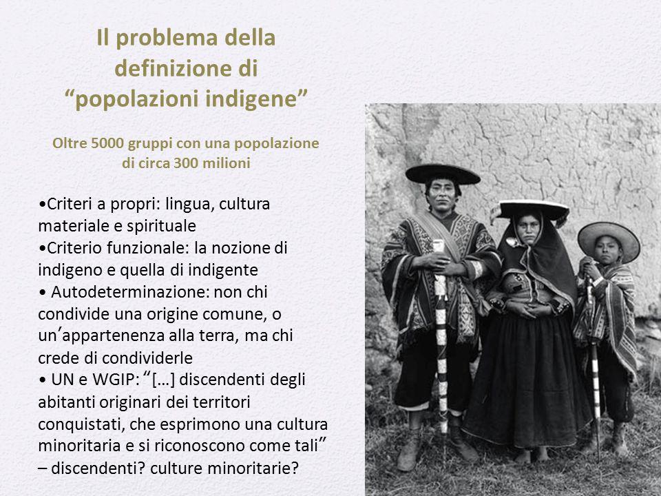 Il problema della definizione di popolazioni indigene