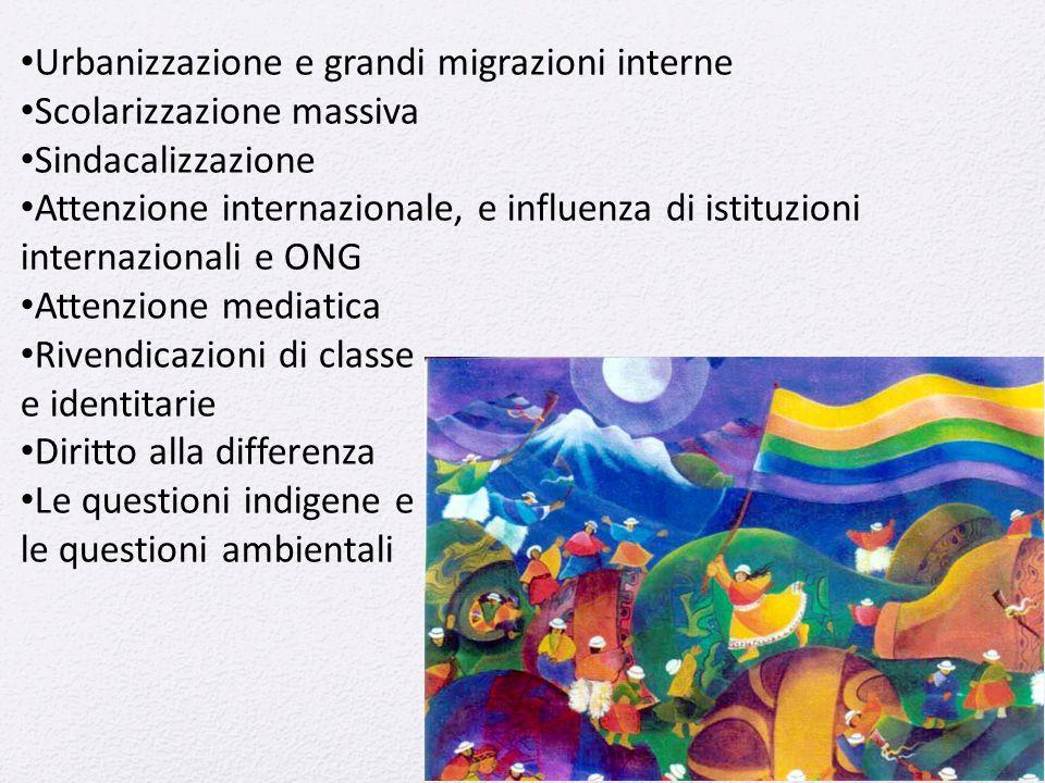 Urbanizzazione e grandi migrazioni interne