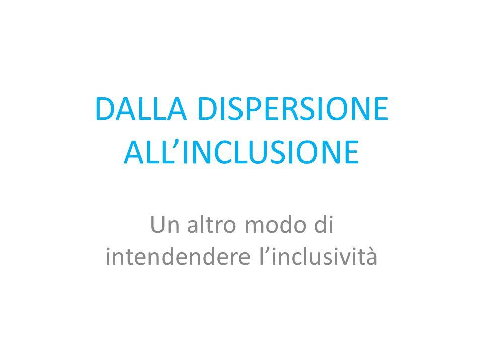 DALLA DISPERSIONE ALL'INCLUSIONE
