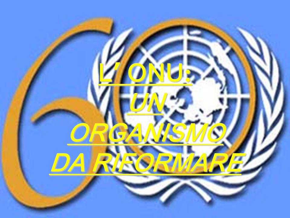 L' ONU: UN ORGANISMO DA RIFORMARE