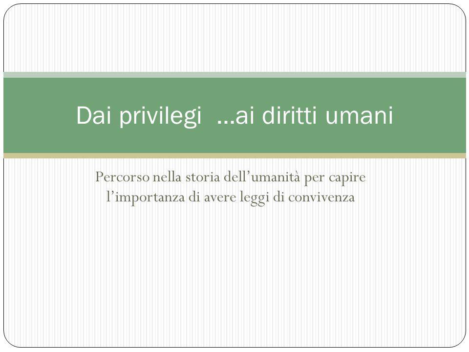 Dai privilegi …ai diritti umani