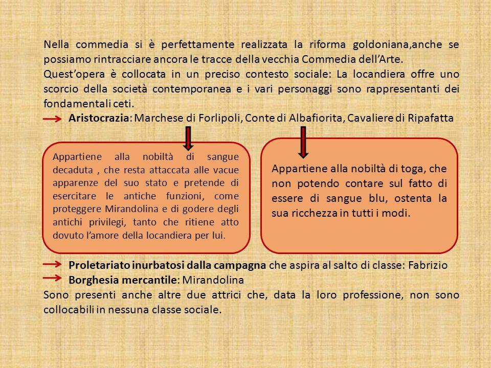 Borghesia mercantile: Mirandolina