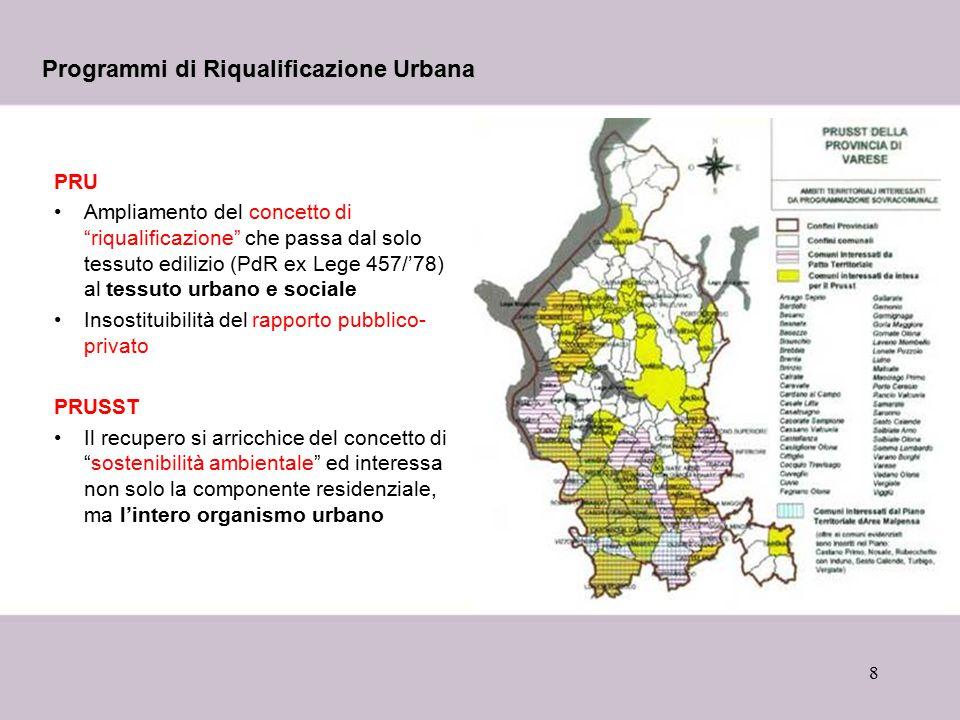 Programmi di Riqualificazione Urbana