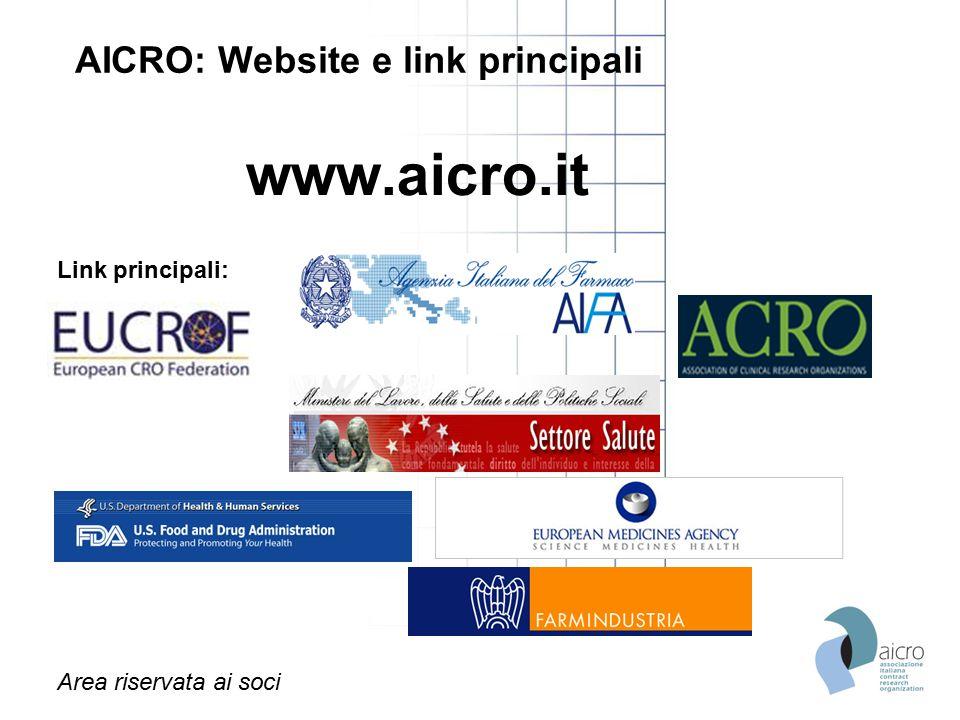 AICRO: Website e link principali