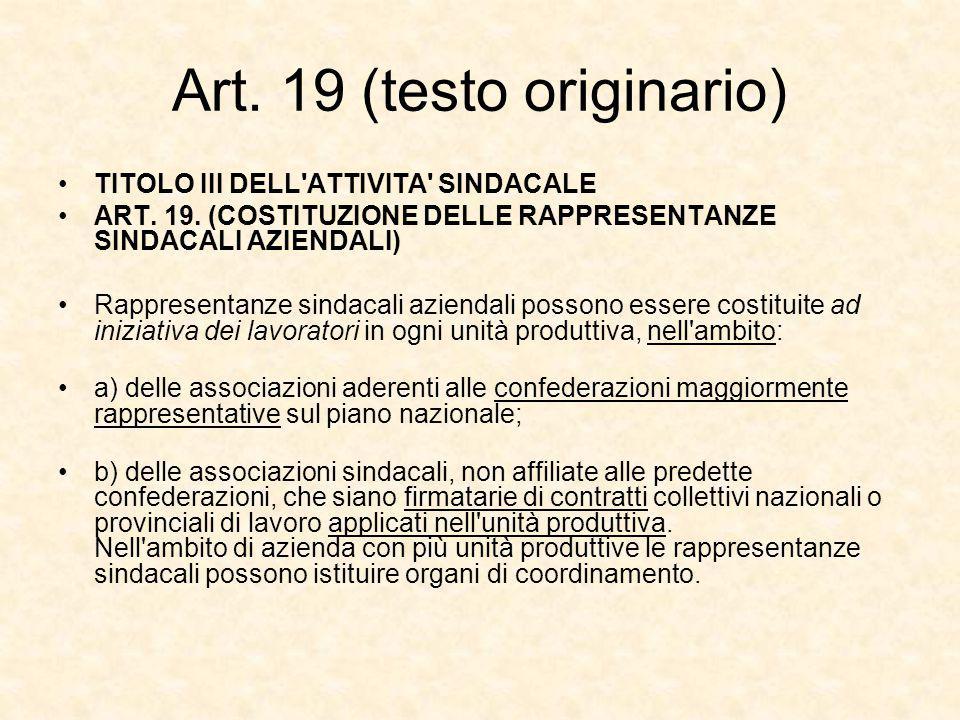 Art. 19 (testo originario)