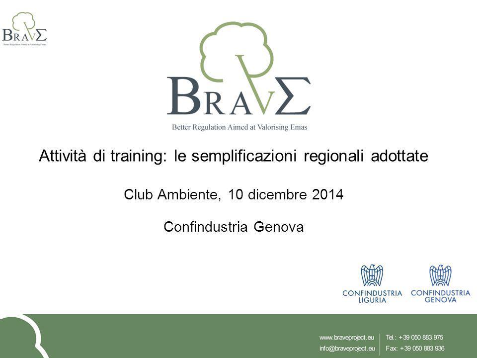 Attività di training: le semplificazioni regionali adottate