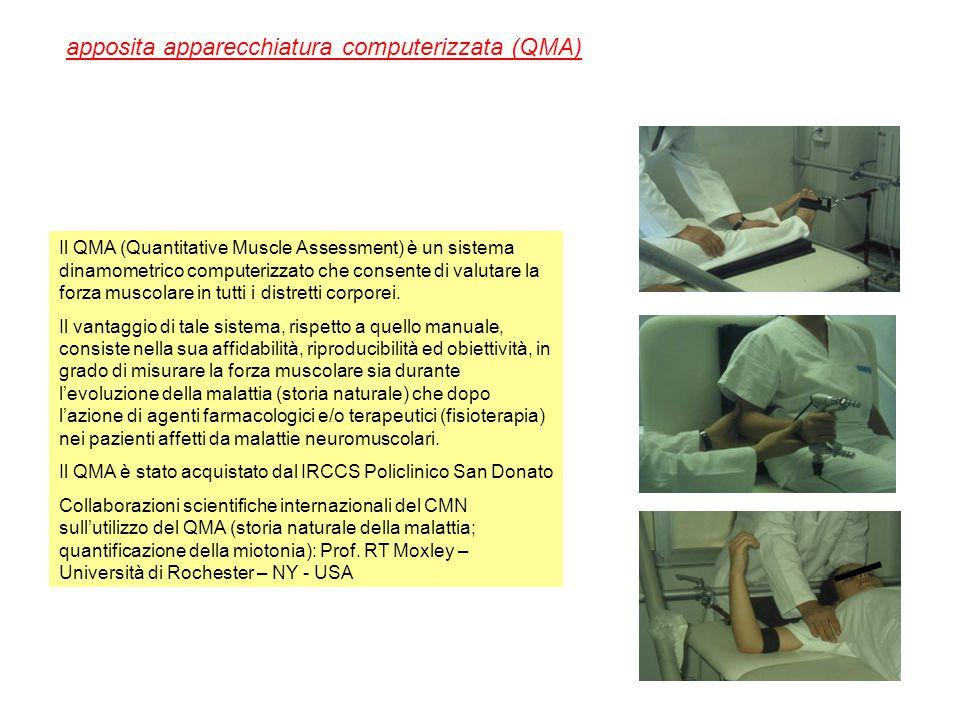 apposita apparecchiatura computerizzata (QMA)