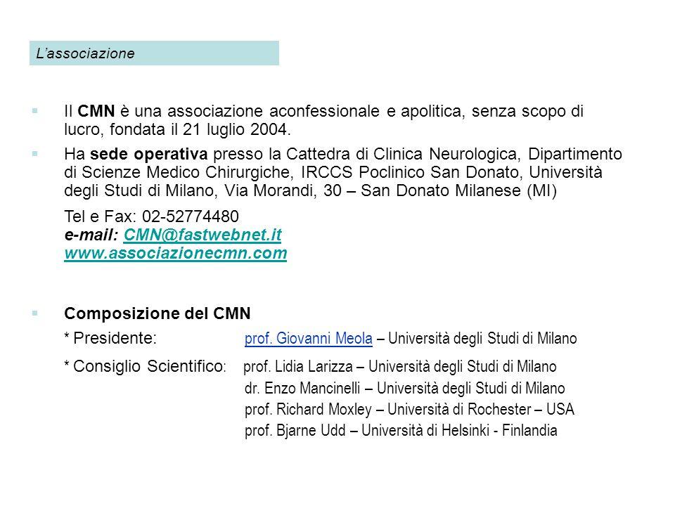e-mail: CMN@fastwebnet.it www.associazionecmn.com