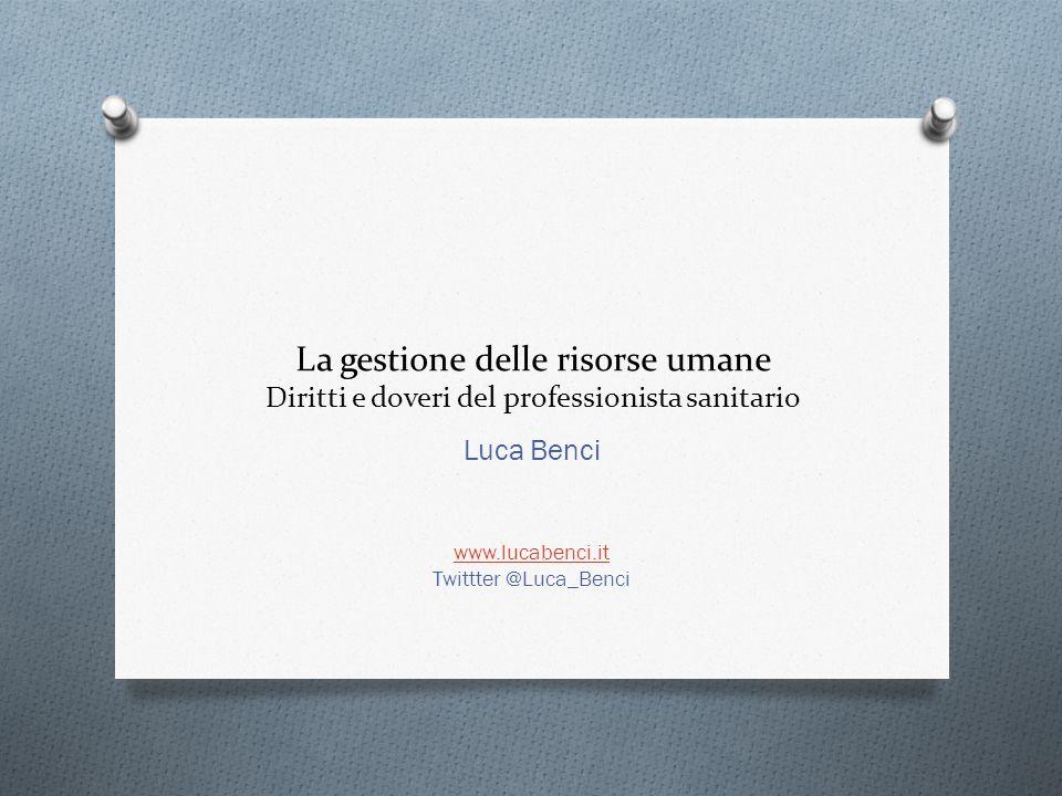 Luca Benci www.lucabenci.it Twittter @Luca_Benci