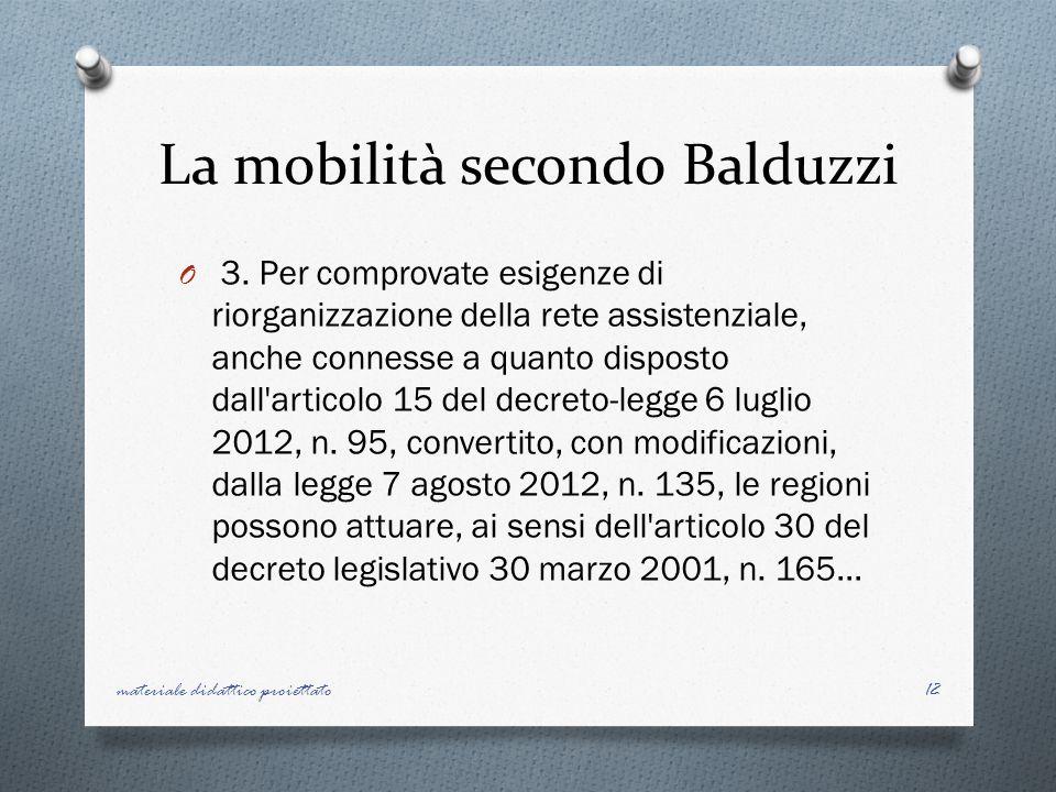 La mobilità secondo Balduzzi