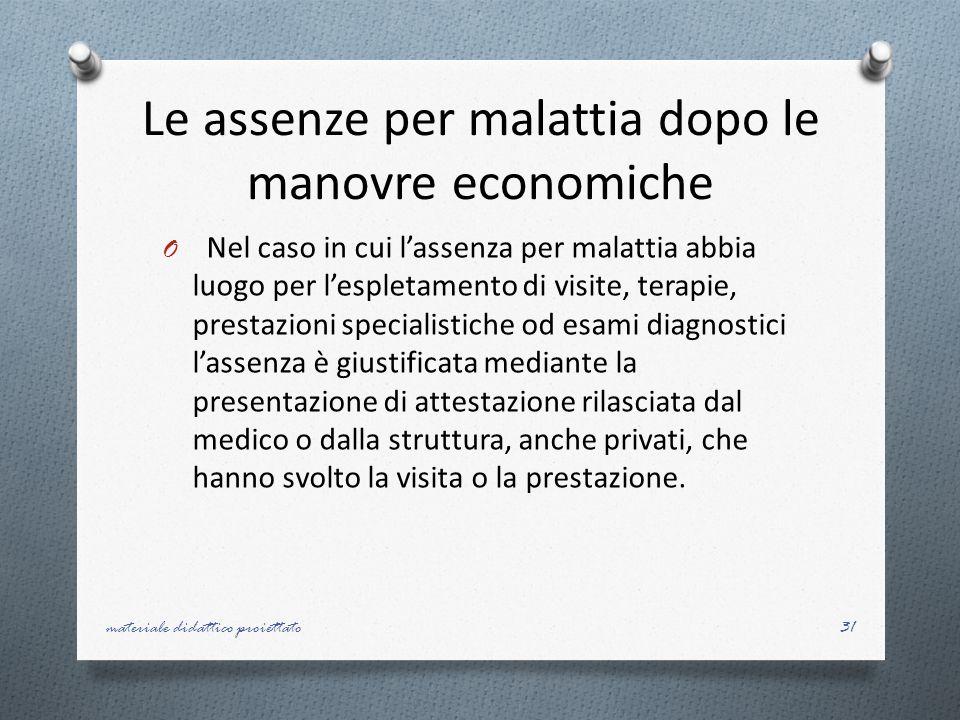 Le assenze per malattia dopo le manovre economiche
