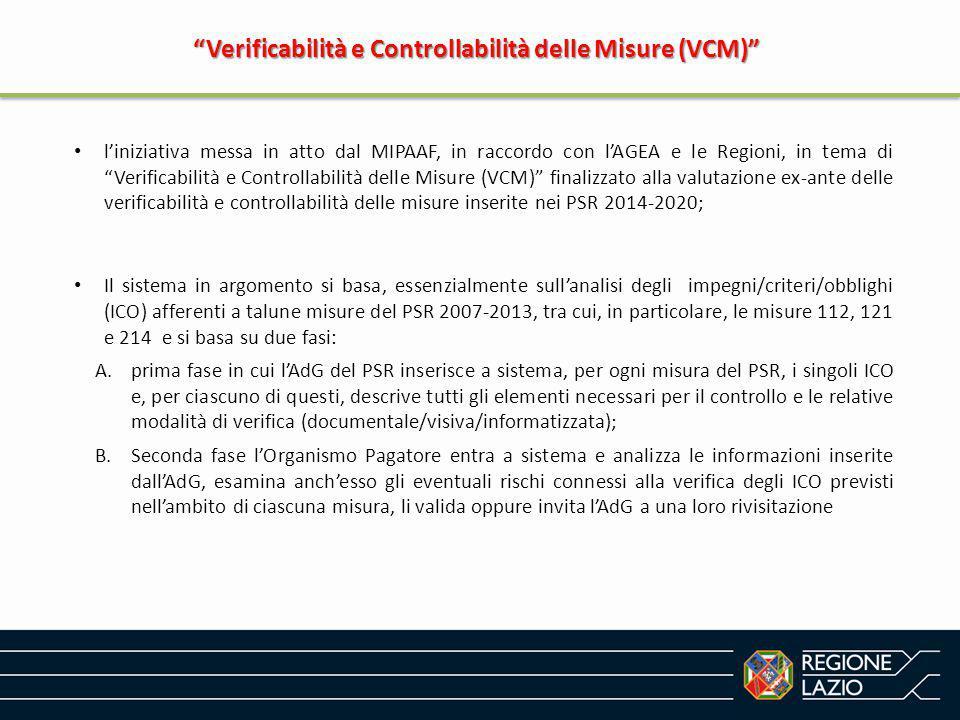 Verificabilità e Controllabilità delle Misure (VCM)
