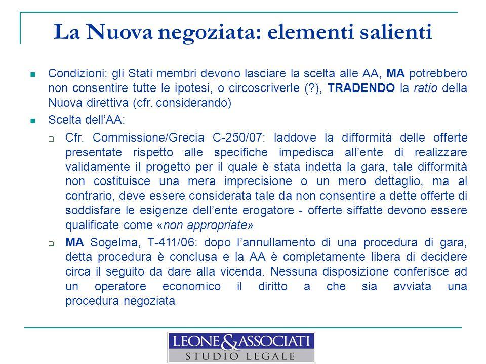 La Nuova negoziata: elementi salienti