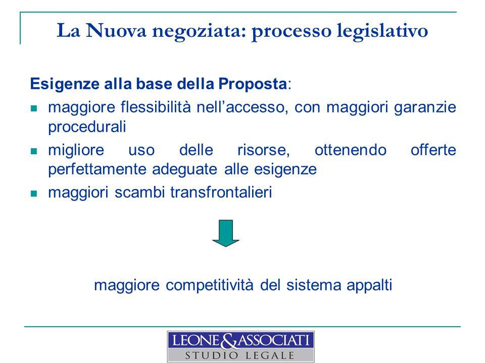 La Nuova negoziata: processo legislativo