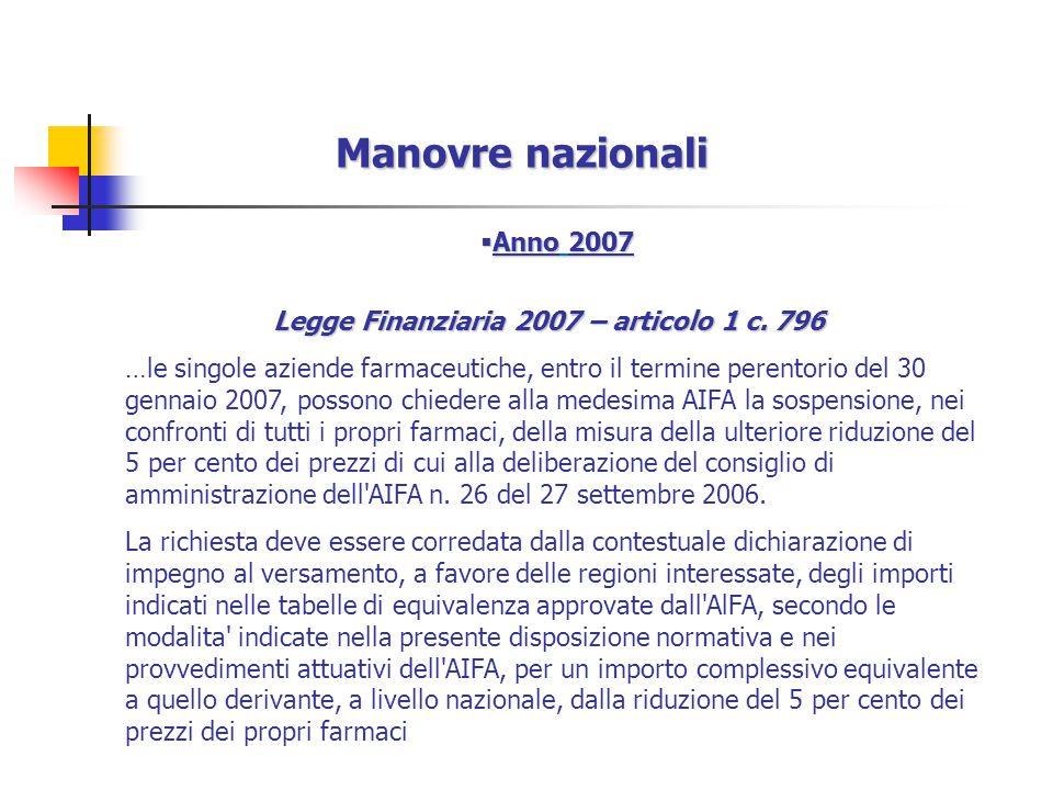 Legge Finanziaria 2007 – articolo 1 c. 796