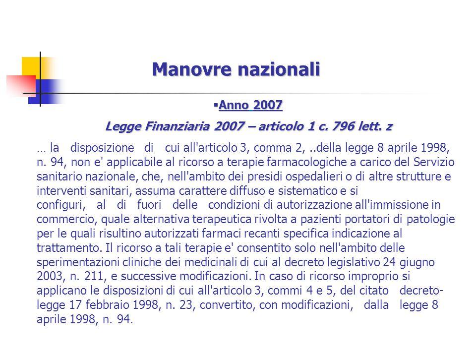 Legge Finanziaria 2007 – articolo 1 c. 796 lett. z