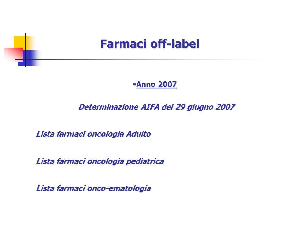 Determinazione AIFA del 29 giugno 2007