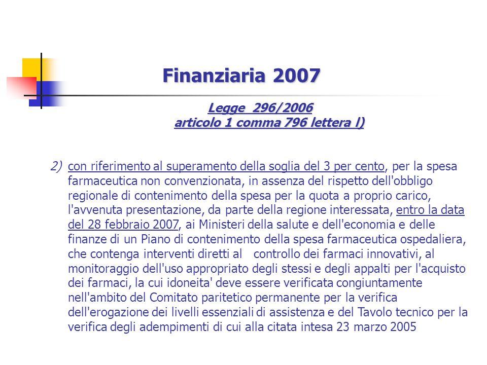 Legge 296/2006 articolo 1 comma 796 lettera l)