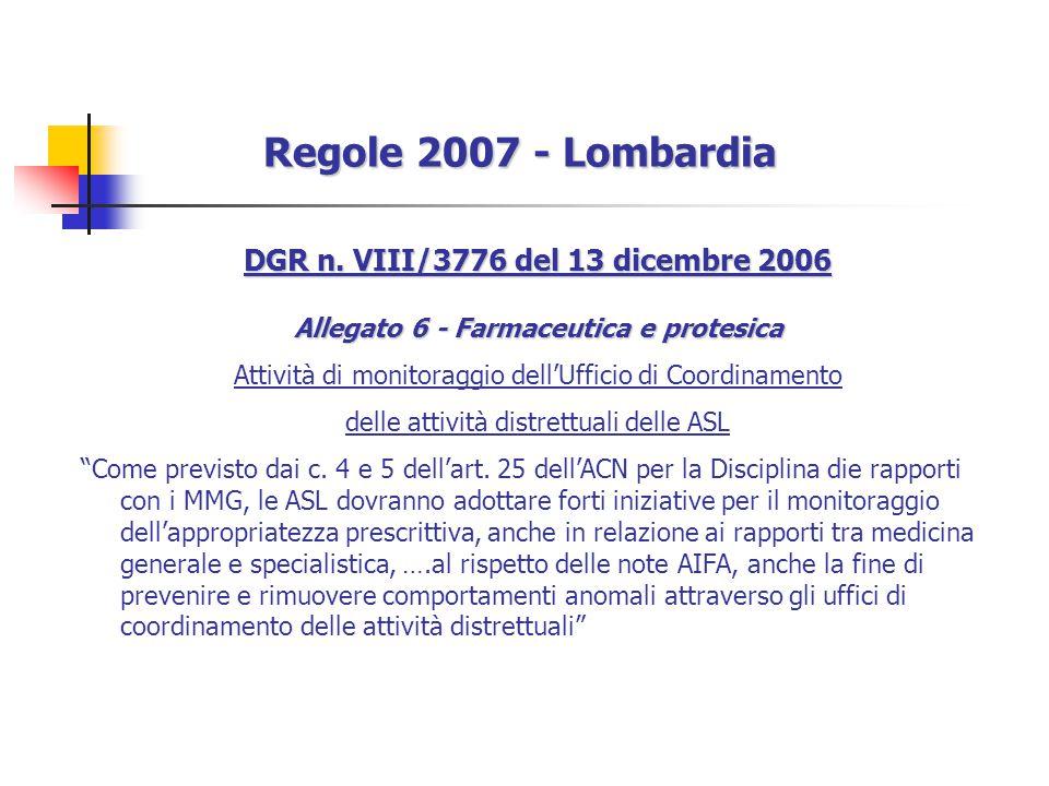 Regole 2007 - Lombardia DGR n. VIII/3776 del 13 dicembre 2006