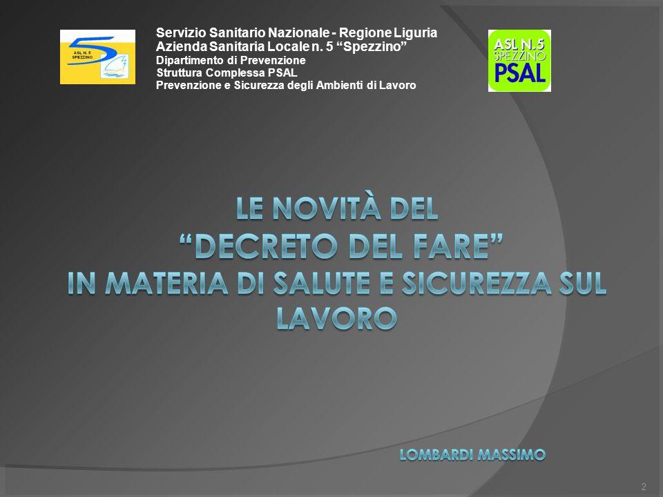 Servizio Sanitario Nazionale - Regione Liguria