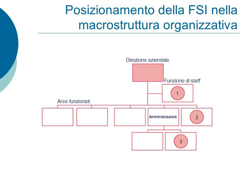 Posizionamento della FSI nella macrostruttura organizzativa
