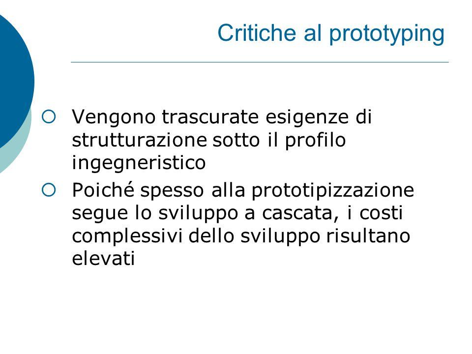 Critiche al prototyping