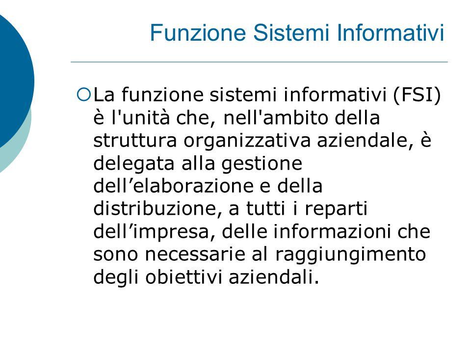 Funzione Sistemi Informativi