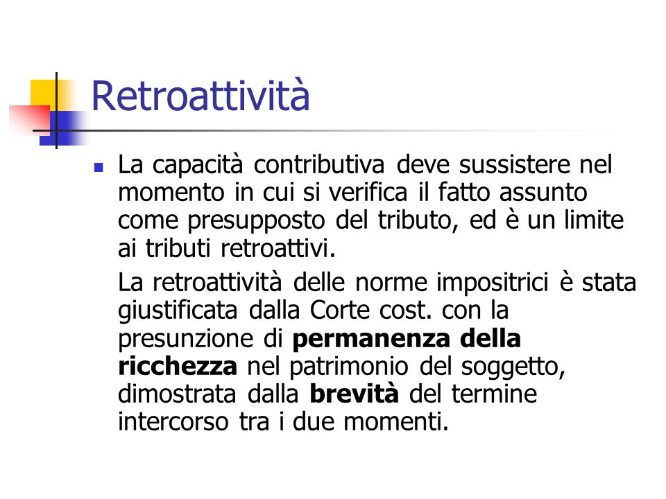 Retroattività