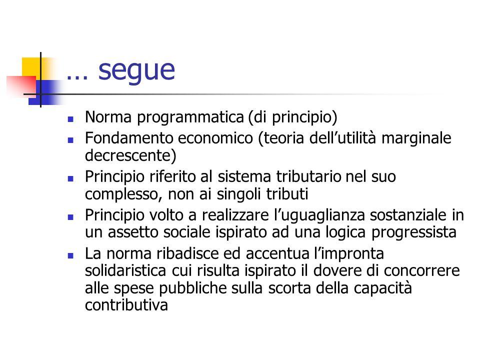… segue Norma programmatica (di principio)