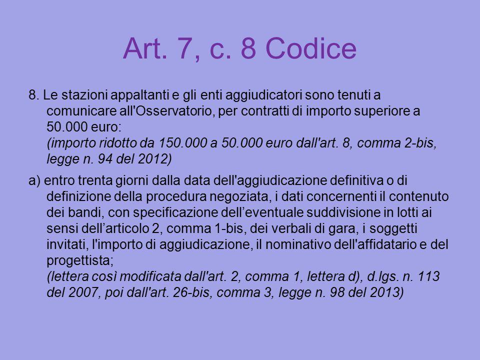 Art. 7, c. 8 Codice