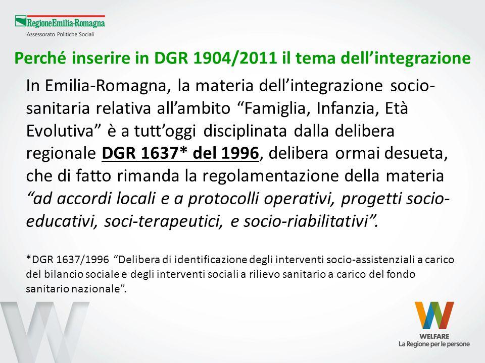 Perché inserire in DGR 1904/2011 il tema dell'integrazione