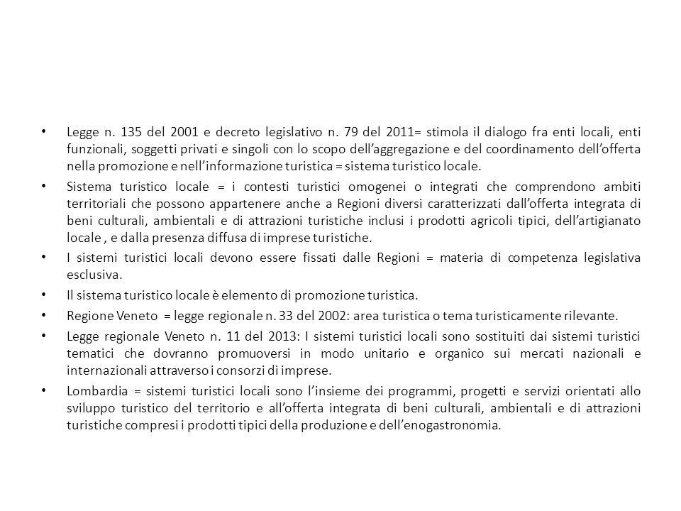 Legge n. 135 del 2001 e decreto legislativo n