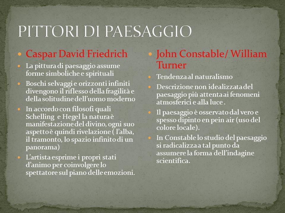 PITTORI DI PAESAGGIO Caspar David Friedrich