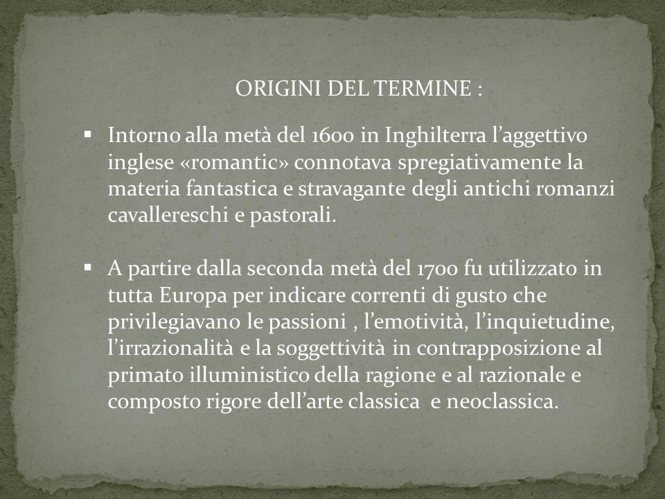 ORIGINI DEL TERMINE :