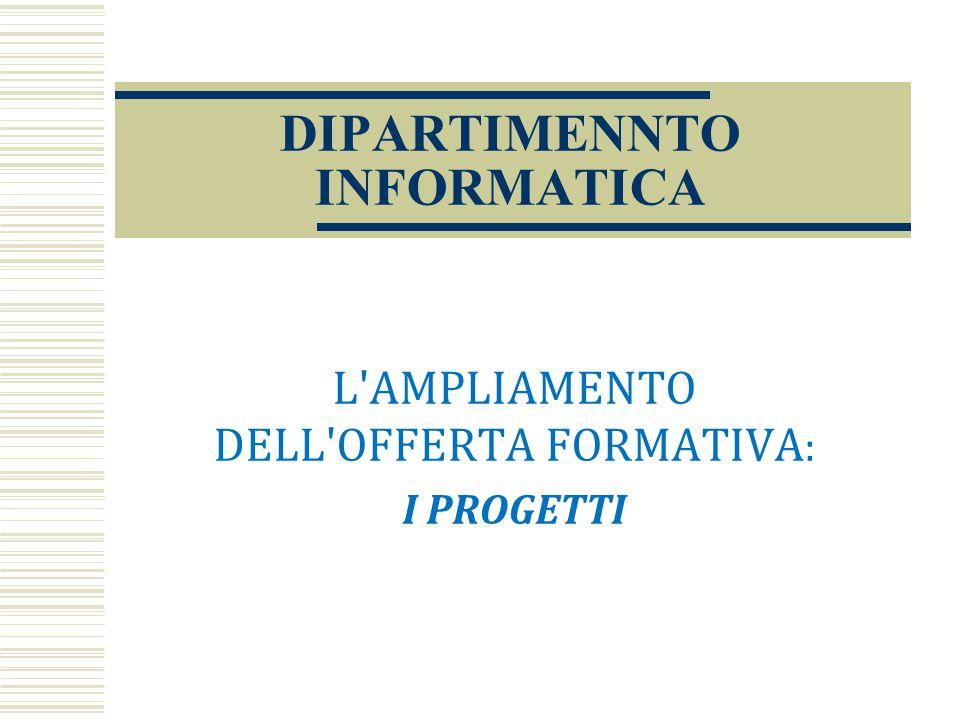 DIPARTIMENNTO INFORMATICA