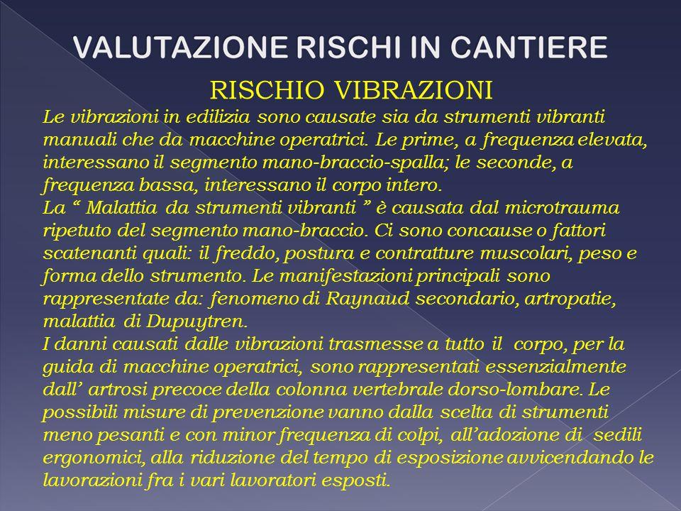 RISCHIO VIBRAZIONI