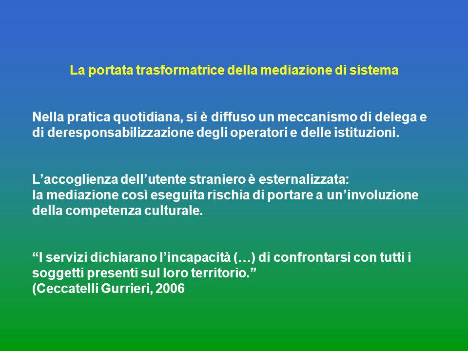 La portata trasformatrice della mediazione di sistema