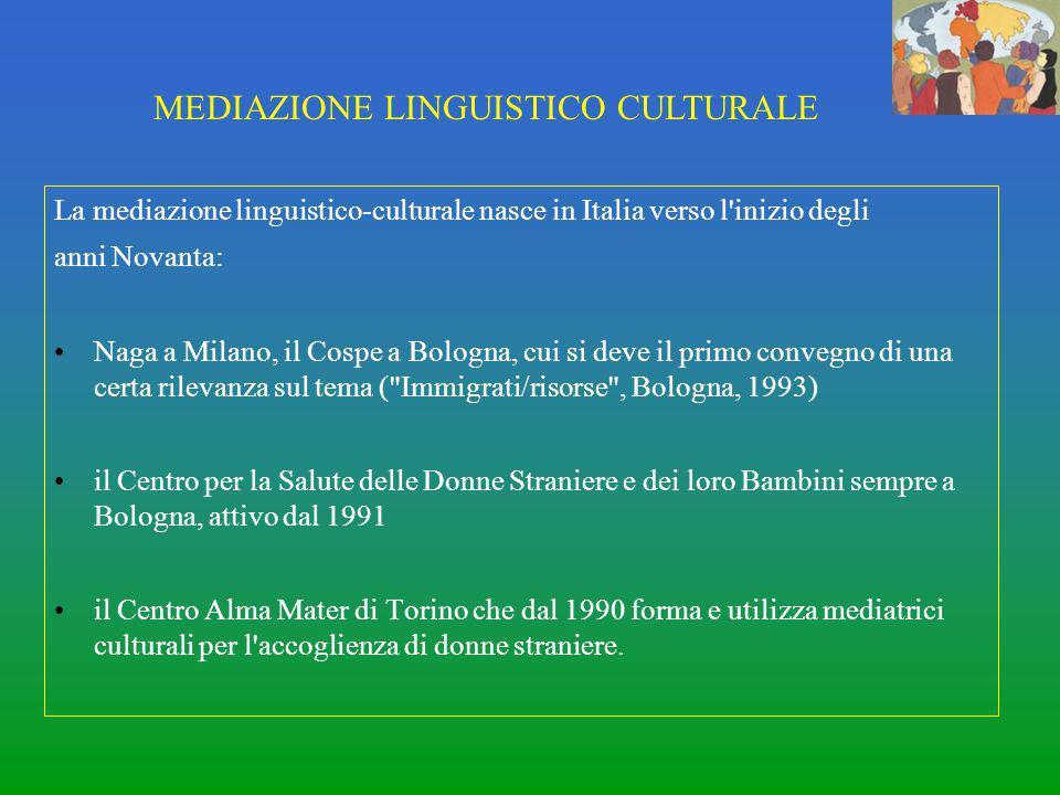 MEDIAZIONE LINGUISTICO CULTURALE