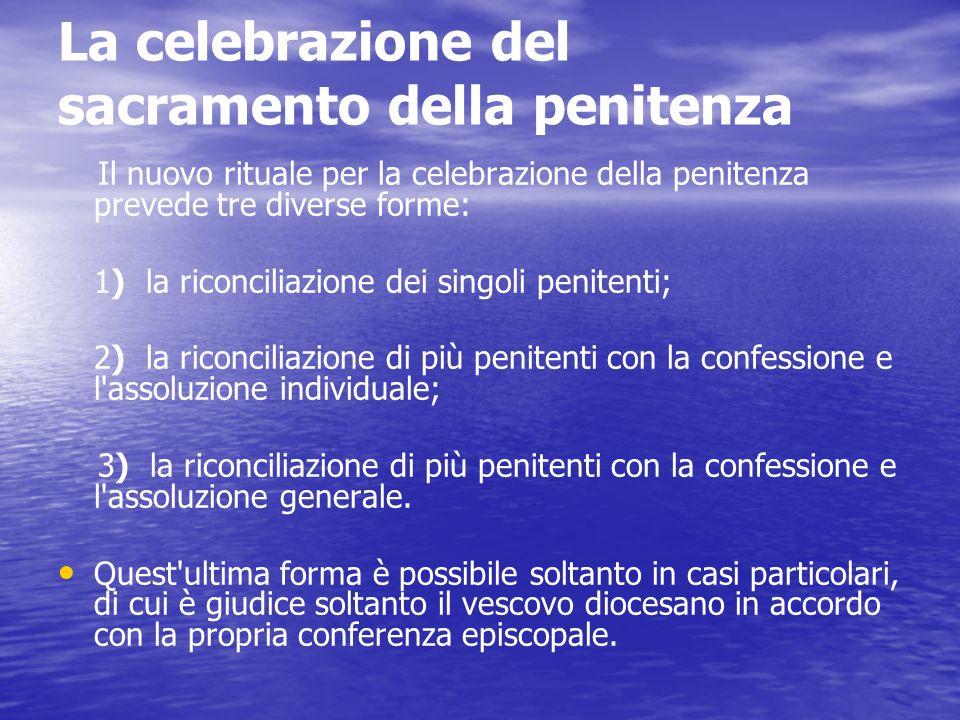 La celebrazione del sacramento della penitenza