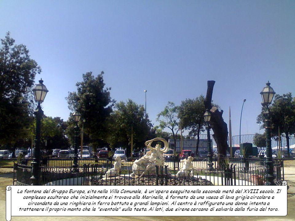 La fontana del Gruppo Europa, sita nella Villa Comunale, è un opera eseguita nella seconda metà del XVIII secolo.
