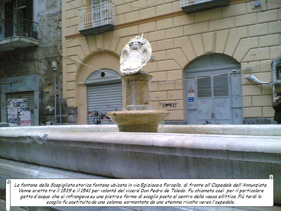 La fontana della Scapigliata storica fontana ubicata in via Egiziaca a Forcella, di fronte all Ospedale dell Annunziata.