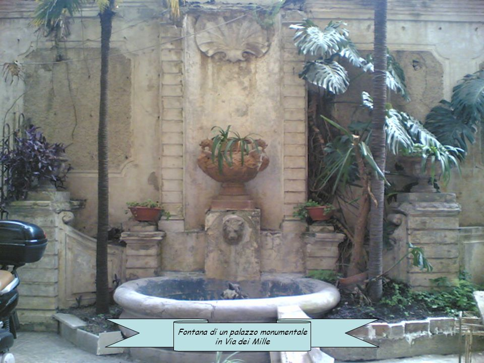 Fontana di un palazzo monumentale